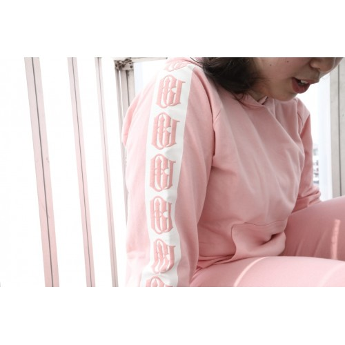 Pink Hoodie BU Detail (Long Sleeves)