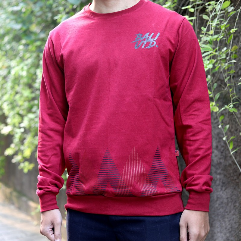 Red (LS) Classic Pattern BU Sweatshirt