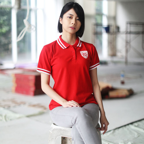 Red Wmn Polo Shirt HD
