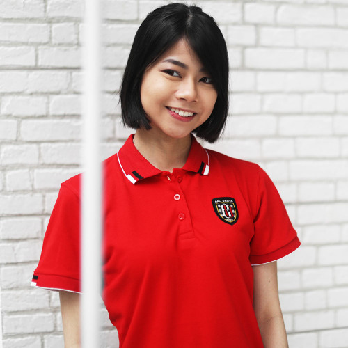 Red Wmn Polo Shirt Logo