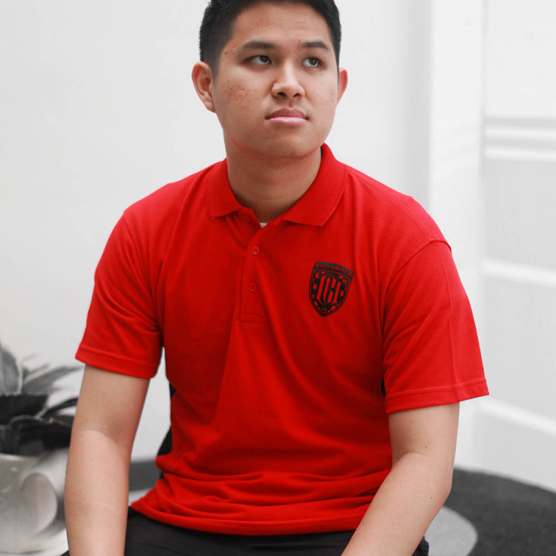 Red Monochrome Polo Shirt