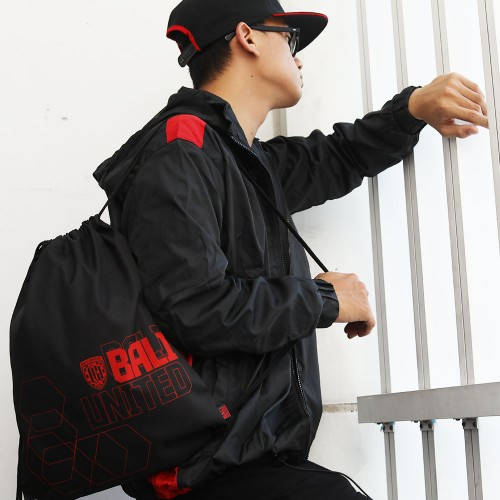 Black Training Drawstring Bag