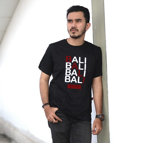 Black Diagonal Flocking Bali Tshirt