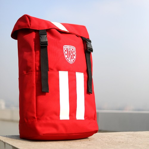 Red Accent White Bag