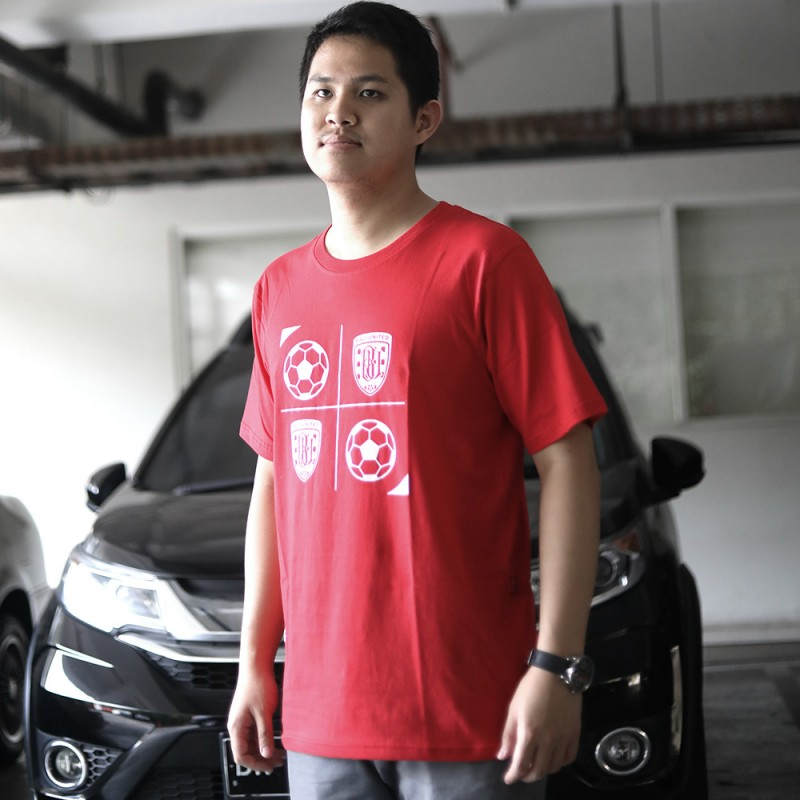 Red Logo & Ball Tshirt