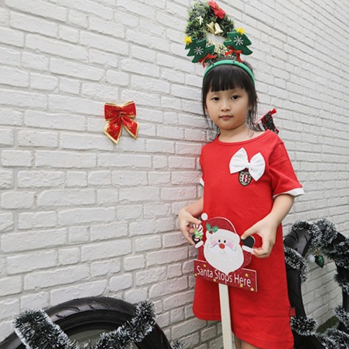 Hello Bali Kids Dress Red