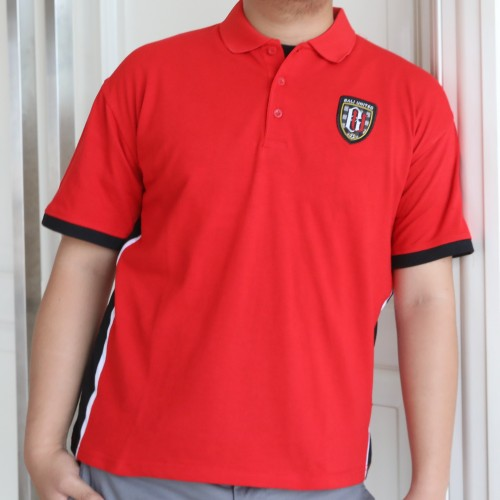 Side Stripe Red Polo Shirt